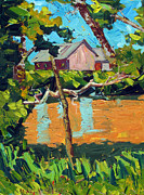 Floods Paintings - 93 Degrees on the Eel by Charlie Spear