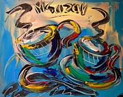 Water Way Paintings - Coffee by Mark Kazav