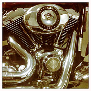 Harley Davidson Photos - 96 Cubic Inches by Linda Lees