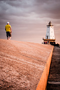 D700 Art - 9646 Walk to Lighthouse by Thomas Detert