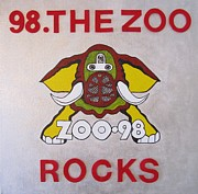 Led Zeppelin Prints Art - 98.the Zoo Rocks by Donna Wilson