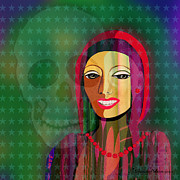 Nice Teeth Digital Art - 994 - The  lady with beautiful teeth by Irmgard Schoendorf Welch