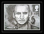 Mccoy Drawings Framed Prints - 9th Doctor Christopher  Eccleston Framed Print by Jenny Campbell Brewer
