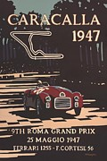 City Streets Digital Art Prints - 9th Roma Grand Prix 1947 Print by Nomad Art And  Design