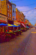 Italian Market Metal Prints - 9th Street Italian Market Philadelphia Rendering Metal Print by Bill Cannon