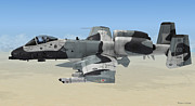 Republic Mixed Media Posters - A-10 Thunderbolt II Poster by Walter Colvin