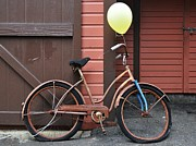 Concord Massachusetts Metal Prints - A Balloon and a Bicycle Metal Print by Gregory Strong