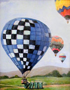 Events Painting Originals - A Balloon Disaster by Donna Tucker