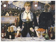 Impressionism Acrylic Prints - A Bar at the Folies-Bergere Acrylic Print by Edouard Manet