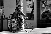 Gear Photos - A barefoot cyclist with beard and hat in San Francisco by RicardMN Photography