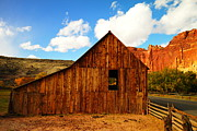 Farming Barns Photo Prints - A Barn At The Gifford Homestead Capital Reef National Part Utah  Print by Jeff  Swan
