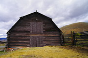 Wooden Barns Posters - A Barn In Wyoming Poster by Jeff  Swan