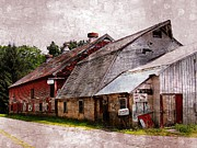 Marcia Lee Jones Framed Prints - A Barn With Many Purposes Framed Print by Marcia Lee Jones