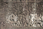 Angkor Art - A Bas-relief of Bayon 12 by Zaw  Wai