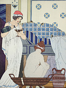 Wine Deco Art Prints - A Bath Seat Print by Joseph Kuhn-Regnier