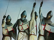 Templar Paintings - A Battle Won by Kaye Miller-Dewing