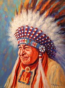 Lakota Paintings - A Beautiful Spirit by Theresa Paden