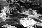 Splash Photo Originals - A beautiful waterfall in black and white by Tommy Hammarsten