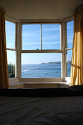 Cape Cornwall Posters - A Bed With a View Poster by Terri  Waters