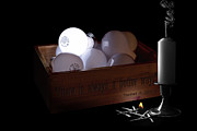 Candle Stand Art - A Better Way Still Life - Thomas Edison by Tom Mc Nemar