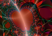 Lyrical Digital Art - A Big Heart by Ester  Rogers