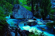 Creeks Prints - A Big Rock On The Way To Carter Falls Print by Jeff  Swan