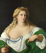 Famous Artists - A Blonde Woman by Palma Vecchio