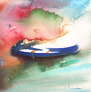 Lanzarote Paintings - A Boat in Lanzarote by Miki De Goodaboom