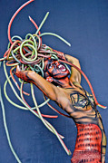 Medusa Framed Prints - A Body Painting replica of Medusa Framed Print by Ron Romonchuk