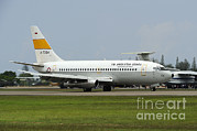 Featured Metal Prints - A Boeing 737-200 Of The Indonesian Air Metal Print by Remo Guidi