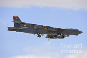 Featured Metal Prints - A Boeing B-52h Stratofortress Prepares Metal Print by Remo Guidi