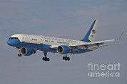 Air Force One Framed Prints - A Boeing C-32a Of The 89th Airlift Framed Print by Timm Ziegenthaler