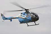105 Posters - A Bolkow Bo-105 Liaison Helicopter Poster by Timm Ziegenthaler