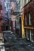 Beaten Framed Prints - A Boston Alley Framed Print by Thomas Schoeller