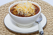 Placemat Framed Prints - A Bowl of Chili Framed Print by Diane Macdonald