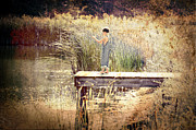 Catch Framed Prints - A Boy Fishing Framed Print by JT PhotoDesign