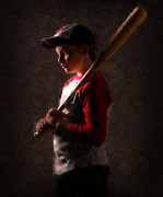 Baseball Cap Digital Art Prints - A Boys Dream Print by Brian Enright