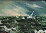 Albatross Paintings - A Brave Sailor by Elizabeth Williams