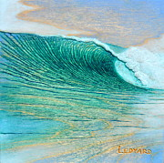 Surf Art Reliefs Framed Prints - A Break in the Clouds Framed Print by Nathan Ledyard