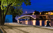 Remi Petiot - A bridge at night in...