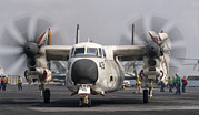 Greyhound Photos - A C-2a Greyhound Aboard Uss George H.w by Giovanni Colla