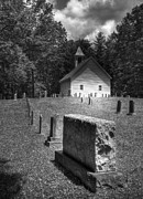 Graveyards Posters - A Cades Cove Church Poster by Mel Steinhauer