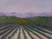 Grape Vines Prints - A California Morning Print by Darice Machel McGuire