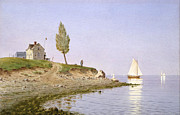 Famous Artists - A Calm Afternoon. Long Island by Henry Farrer