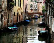 A Calm Venice Canal  Print by Jennie Breeze