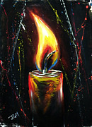 Candle Painting Originals - A Candle Light by Jonathan Manning