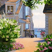 New England. Painting Posters - A Cape Cod Paradise Poster by Laura Lee Zanghetti