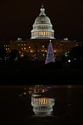 Marble Photo Prints - A Capitol Reflection Print by Metro DC Photography