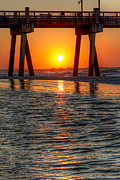 Pensacola Fishing Pier Posters - A Captive Sunrise Poster by Tim Stanley