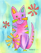 A Cat Of Many Colors II Print by Terry Taylor